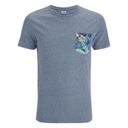 Jack & Jones Men's Originals Bobby Pocket Print T-Shirt - Poseidon