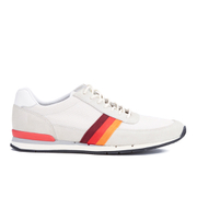 Paul Smith Shoes Men's Swanson Running Trainers - Off White Mesh/Ecru Silky Suede