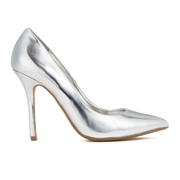 Dune Women's Burst Metallic Court Shoes - Silver