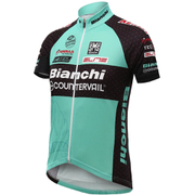 Santini TX Active Bianchi 16 Short Sleeve Jersey - Blue