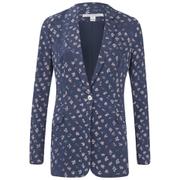 Diane von Furstenberg Women's Vinley Jacket - Daisy Buds Tiny New Indigo