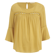 ONLY Women's Theo Lace Top - Honey Gold