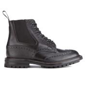 Tricker's Men's Ellis Leather/Scotch Grain Commando Sole Lace Up Boots - Black
