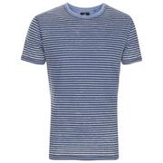 Threadbare Men's Helsinki Burnout Stripe T-Shirt - Denim