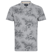 Threadbare Men's Hanoi Floral Print Polo Shirt - Grey
