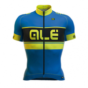 Ale PRR Bermuda Short Sleeve Jersey - Blue/Yellow