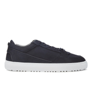 ETQ. Men's Low Top 3 Leather Trainers - Blueberry