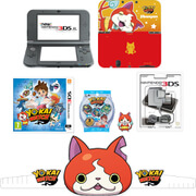 New Nintendo 3DS XL Metallic Black + YO-KAI WATCH Pack
