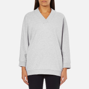 KENZO Women's Logo Short Sweatshirt - Light Grey