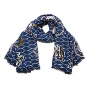 KENZO Women's Multi Iiconics Scarf - Blue