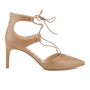 Sam Edelman Women's Taylor Leather Lace Up Court Shoes - Golden Caramel