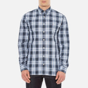 Tommy Hilfiger Men's Atlantic Check Long Sleeve Shirt - Flint Stone/Black Iris
