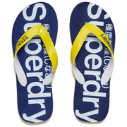 Superdry Men's Flip Flops - Superman Navy/Empire Yellow