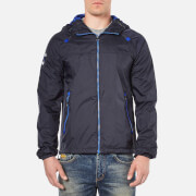 Superdry Men's Dual Zip Through Tri Colour Cagoule - Navy
