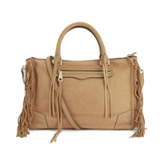 Rebecca Minkoff Women's Fringe Regan Satchel - Almond