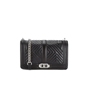 Rebecca Minkoff Women's Geo Quilted Love Crossbody Bag - Black