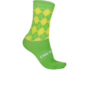 Castelli Cannondale Pro Cycling Team Rosso Corsa 13 Socks - Green