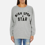 Maison Scotch Women's Wish Upon A Star Boxy Fit Sweatshirt - Grey