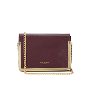 Ted Baker Women's Zanna Exotic Metal Trim Mini Cross Body Bag - Maroon