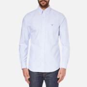 GANT Men's Oxford Long Sleeve Shirt - Capri Blue