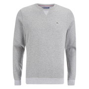 Le Shark Men's Greenfield Crew Neck Sweatshirt - Light Grey Marl