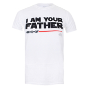 Star Wars Men's Father Sabre T-Shirt - White