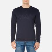 HUGO Men's Dapone Logo Crew Neck Sweatshirt - Navy
