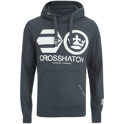 Crosshatch Men's Quon Kangeroo Pocket Hoody - Total Eclipse