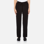 Theory Women's Tralpin Admiral Crepe Light Trousers - Black