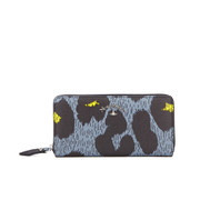 Vivienne Westwood Leopardmania Women's Zip Around Wallet - Grey