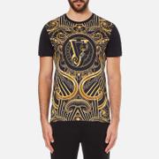 Versace Jeans Men's Front Print T-Shirt - Black