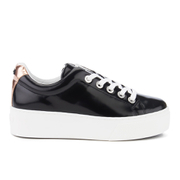 KENZO Women's K-Lace Platform Trainers - Black/Rose Gold