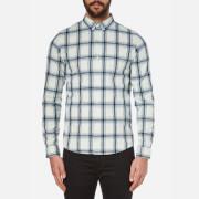 A.P.C. Men's Checked Buttoned Down Shirt - Ecru