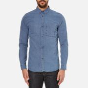 A.P.C. Men's Clift Denim Shirt - Indigo Delave