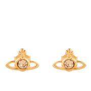 Vivienne Westwood Jewellery Women's Nano Solitaire Earrings - Light Topaz