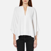 Helmut Lang Women's Georgette Silk Square Shape Shirt - White