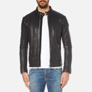 BOSS Orange Men's Jofynn Leather Jacket - Black