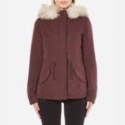 ONLY Women's Lucca Short Parka - Fudge