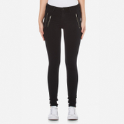 ONLY Women's Eternal Regular Zip Skinny Jeans - Black