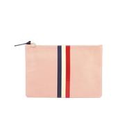 Clare V. Women's Margot Flat Clutch Bag - Blush Navy Cream/Red Stripes