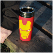 Marvel Iron Man Stainless Steel Travel Mug - Red