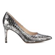 Clarks Women's Dinah Keer Leather Metallic Court Shoes - Silver Metallic