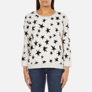 Maison Scotch Women's Crew Neck Sweatshirt With Allover Star Print - Grey