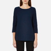 Selected Femme Women's Finca 3/4 Sleeve Top - Dark Navy Melange