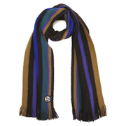 PS by Paul Smith Men's Reversible Stripe Scarf - Black