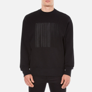 Alexander Wang Men's Embroidered Barcode Logo Sweatshirt - Black