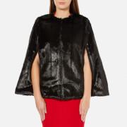 MICHAEL MICHAEL KORS Women's Reversible Faux Fur Cape - Black