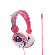 Hello Kitty On-Ear Headphones - Pink Leopard