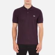 Lacoste Men's Basic Pique Short Sleeve Marl Polo Shirt - Bougainvillea Mouline