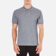 Lacoste Men's Basic Pique Short Sleeve Marl Polo Shirt - Navy Blue/Mouline